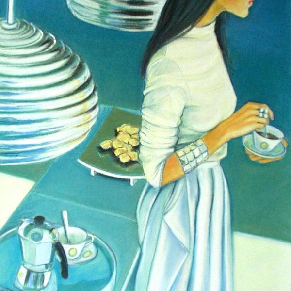 Девушка с чашкой