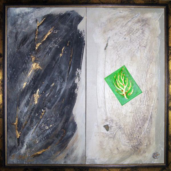 Зеленое в черно-белом